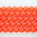 "Round Bead Dyed Jade Neon Orange 8mm 16"""