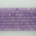 """Faceted Roundel Dyed Jade Lavender 4x6mm 16"""""""
