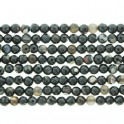 Faceted Round Bead Black & White Agate 6mm 16""