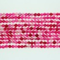 Faceted Round Bead Fuchsia Fire Agate 4mm 16""