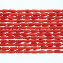 Teardrop Center Drilled Bamboo Coral 4x8mm 16""