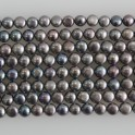"""Freshwater Pearl Button Center Drilled Peacock 4.5-5mm 16"""""""