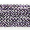 Faceted Round Bead Amethyst 8mm 16""