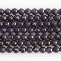 """Faceted Round Bead Amethyst 10mm 16"""""""