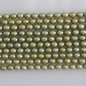 Freshwater Pearl Rice Forest Green 4.5-5mm 16""