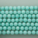"""Faceted Round Bead Dyed Jade Light Blue 8mm 16"""""""