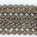"""Faceted Round Bead Coffee Quartz 12mm 16"""""""