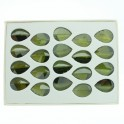 Faceted Leaf Half Drilled Cubic Zirconia Olive 14x20mm Sold Per Box of 20 Pcs