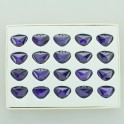 Faceted Butterfly Cubic Zirconia Tanzanite 15x18mm Sold Per Box of 20 Pcs