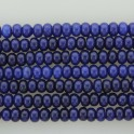 "Roundel Dyed Jade Blue 5x8mm 16"""