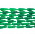 "Flat Teardrop Dyed Jade Green 10x30mm 16"""