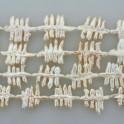 "Freshwater Pearl Biwa Fish Bone Natural 22x33mm 16"""