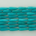 """Faceted Teardrop Dyed Jade Light Teal 8x25mm 16"""""""