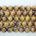 """Faceted Round Bead Tiger Eye 14mm 16"""""""