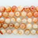 Round Bead Fire Agate 18mm 16""