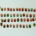"""Faceted Teardrop Candy Jade 6x9mm 8"""""""