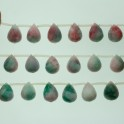 Faceted Teardrop Top Drilled Candy Jade 15x20mm 8""